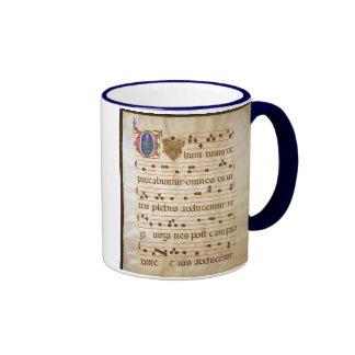 "chant manuscript.jpg, Gregorian Chant:, The ""cu... Ringer Coffee Mug"