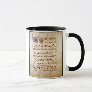 """chant manuscript.jpg, Gregorian Chant:The """"cutt... Mug"""