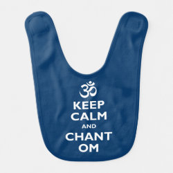 Baby Bib with Keep Calm and Chant Om design