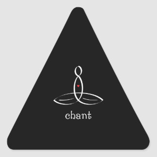 Chant - White Fancy style Triangle Sticker