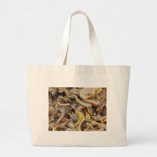 Chantarelle Mushrooms Large Tote Bag