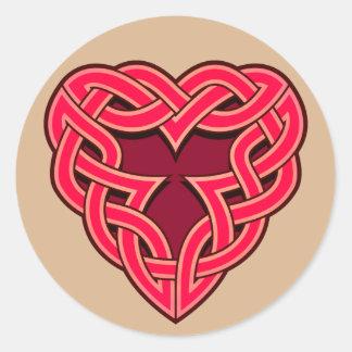 Chante Heartknot Round Sticker
