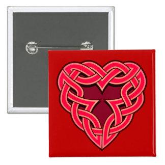 Chante Heartknot Square Button