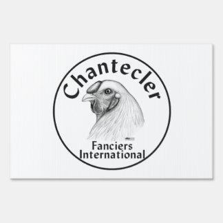 Chantecler Fanciers Logo Yard Signs