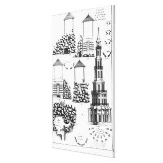 Chanteloup Pagoda, from 'Details des Nouveaux Jard Gallery Wrap Canvas