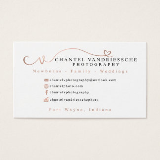 Chantel's Custom Business Cards