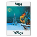 chanticleer The holidays are here again Greeting Cards