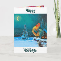 chanticleer The holidays are here again Holiday Card
