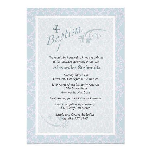 Chantilly Baptism Invitation