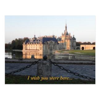 Chantilly Casttle Postcard