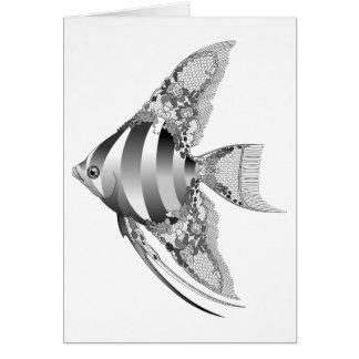 Chantilly Lace Angel Fish Blank Card