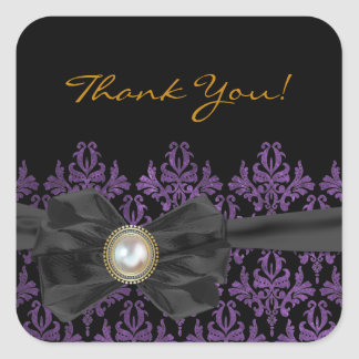 Chantilly Lace Wedding Favor Thank You Stickers