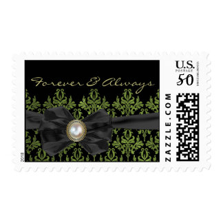 Chantilly Lace Wedding Postage Stamp