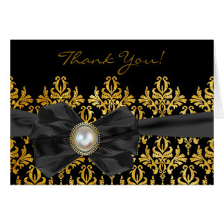 Chantilly Lace Wedding Thank You Card