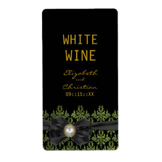Chantilly Lace Wedding Wine Labels