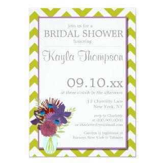 Chantilly Mason Jar Chevron Bridal Shower Invite