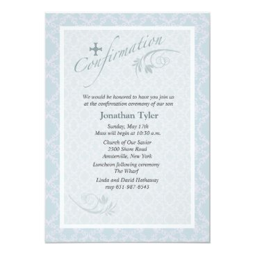 religious Chantilly Religious Confirmation Invitation