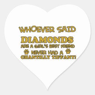 chantilly tiffany better than Diamonds Heart Sticker
