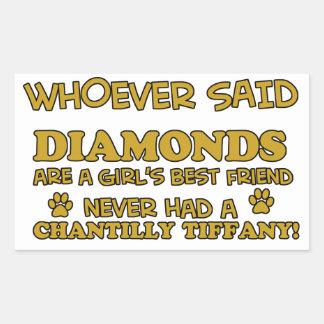 chantilly tiffany better than Diamonds Rectangular Sticker