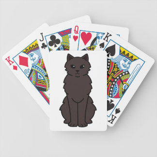 Chantilly-Tiffany Cat Cartoon Bicycle Playing Cards