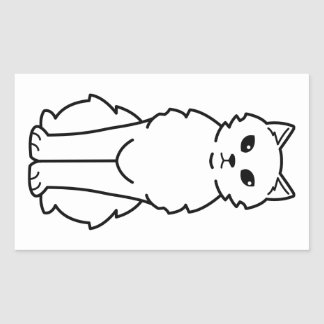 Chantilly-Tiffany Cat Cartoon Rectangular Sticker