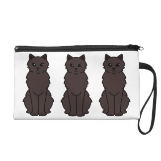 Chantilly-Tiffany Cat Cartoon Wristlet Purse