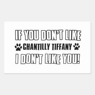 chantilly Tiffany cat design Rectangular Sticker