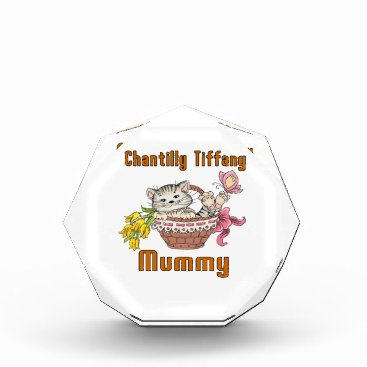 McTiffany Tiffany Aqua Chantilly Tiffany Cat Mom Acrylic Award