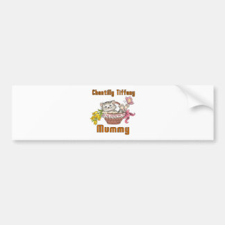 Chantilly Tiffany Cat Mom Bumper Sticker
