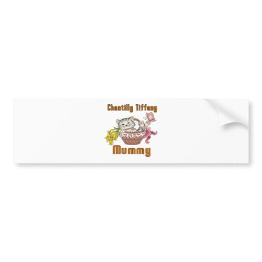 McTiffany Tiffany Aqua Chantilly Tiffany Cat Mom Bumper Sticker