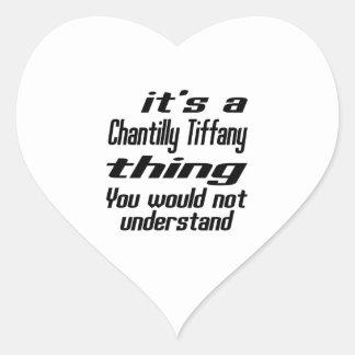 Chantilly Tiffany thing designs Heart Sticker
