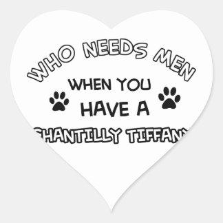 Chantily Tiffany design Heart Sticker