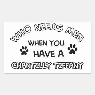 Chantily Tiffany design Rectangular Sticker