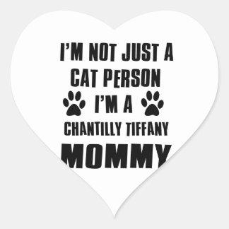 Chantily Tiffany  shirts Cat Design Heart Sticker