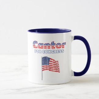 Chantre para la bandera americana patriótica del