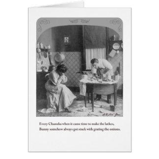 Chanuka cocina la tarjeta de felicitación