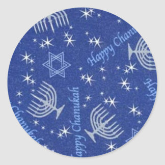 chanuka happy classic round sticker