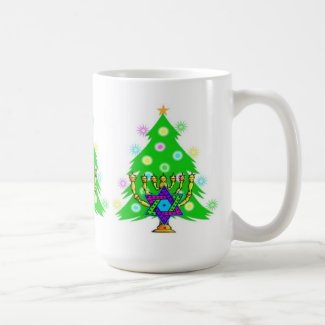 Chanukah and Christmas Coffee Mug