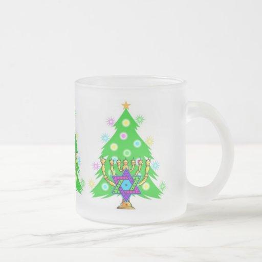 Chanukah and Christmas Coffee Mugs