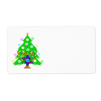 Chanukah and Christmas Together Label