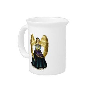 Chanukah Angel Beverage Pitcher