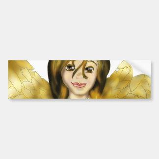 Chanukah Angel Bumper Sticker