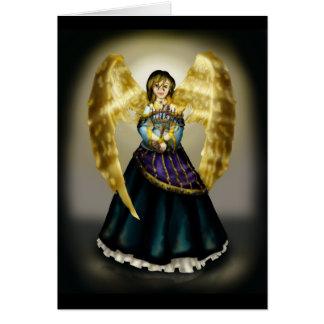 Chanukah Angel Card