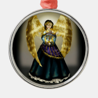 Chanukah Angel Metal Ornament