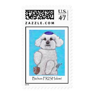 Chanukah Bizou the Bichon Stamp