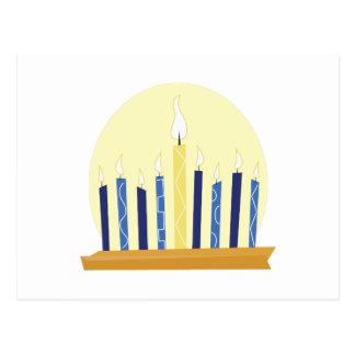 Chanukah Candles Postcard