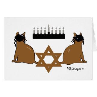 Chanukah Cats Card