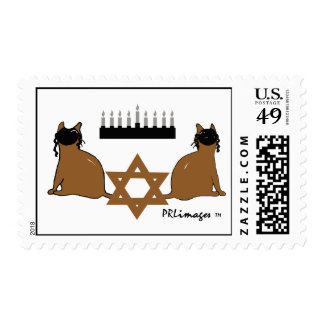 Chanukah Cats Postage