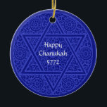 "Chanukah &amp; Christmas Ornament<br><div class=""desc"">A modern-day keepsake,  especially created for interfaith families ~ honor both Jewish and Christian holiday traditions with this customizable ornament. Personalize with your holiday greeting or family name,  and the Hebrew and Christian calendar years.</div>"