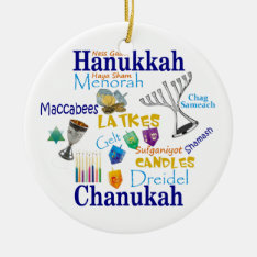 Chanukah Collage/light The Lights Ceramic Ornament at Zazzle